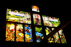 Stained Glass (561jaclyn) Tags: ocean flowers sea sunlight lake art beach nature glass beautiful river landscape vineyard pond vines artwork rocks stream view natural artistic god goddess stainedglass stained winery sunflowers grapes fields grape masterpiece