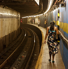 beauty of E BWay (grapfapan) Tags: street nyc newyorkcity people woman station subway