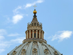 Basilica Roof (tubblesnap) Tags: italy pope vatican rome art church st square basilica religion ceiling peters coloseum