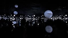 Glow in the Dark (allenhimself) Tags: street toronto art dark downtown installation glowing blanche nuit 2013