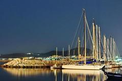 Pozzuoli (pizzicarella3) Tags: mare barche porto notturna pozzuoli flickrandroidapp:filter=none