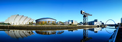 Glasgow Panorama (rsthomas9) Tags: urban panorama reflection tower water river scotland clyde nikon glasgow panoramic hydro sciencecentre d5100
