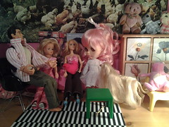 Miss Kenner has her old friends round for tea.