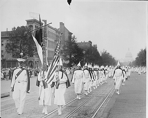 The Ku Klux Klan on parade down Pennsylvania A...