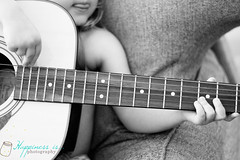 November 6 : Starting Early (RachelBrandtPhotography) Tags: blackandwhite child guitar strings pick frets childplayingguitar