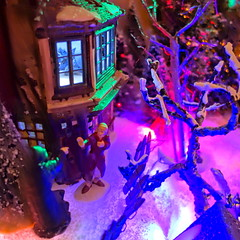 Dicken's Christmas Village 2013: Scrooge and the Ghost of Christmas Future (kevin dooley) Tags: christmas xmas decorations december ghost noel scrooge 25 dickens merrychristmas christmasvillage happychristmas christmasfuture 2013 marypage maryellenpage