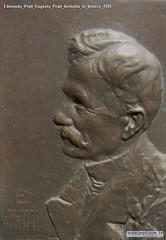 Edmondo Prati Eugenio Prati formella in bronzo 1925
