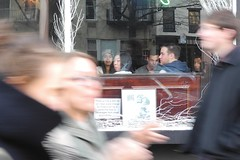 white horse tavern (omoo) Tags: newyorkcity window glass girl face bar reflections crowd westvillage tavern booze local saloon whitehorse prettygirl greenwichvillage ber localbar whitehorsetavern hudsonstreet passersby west11thstreet faceinthecrowd girlinthewindow dscn5479 hudsonandwest11th rumginirish