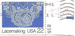 USA Lacemaking stamp (sftrajan) Tags: blue unitedstates stamps lace craft stamp timbre postagestamp philately sello briefmarke  francobollo     usalacemakingstamp22cents