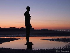 Another Place0039 (chris fearnehough) Tags: sunset liverpool sunrise crosby antonygormley anthonygormley anotherplace gormleystatues ironmanstatues