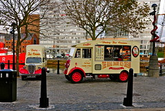 Ice Cream vans...of the traditional variety! (MickyFlick) Tags: england history tourism liverpool traditional tourists historic historical touristattraction pierhead albertdock rivermersey icecreamvans portofliverpool canningdock mickyflick