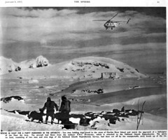 The Sphere article part 1 (ericy202) Tags: november dogs magazine island antarctica charles helicopter sphere 1956 roux protector sledge hms whirlwind detaille