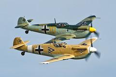 Hispano HA-1112-M1L Buchon - 8 (NickJ 1972) Tags: black yellow 1 10 aviation september airshow duxford hispano bf109 2012 messerschmitt me109 buchon ha1112 gbwue gawhe