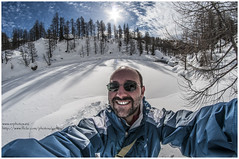 brrrr... (Gottry) Tags: winter light shadow portrait sky italy panorama cloud sun lake snow alps me self landscape lago nikon italia nuvola witch ombra wide fisheye piemonte cielo neve sole 8mm inverno rinaldi alpi ritratto luce alpe emanuele streghe d90 devero samyang gottry wwwerphotoseu