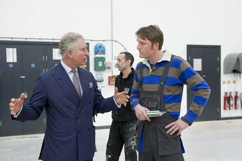 Prince of Wales and the Duchess of Cornwall visit High House Production Park in Thurrock