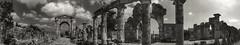 Roman and Bizantine Ruins of Al-Bass Archeological Site (Tyre, Lebanon. Gustavo Thomas  2013) (Gustavo Thomas) Tags: blackandwhite panorama lebanon blancoynegro monochrome ruins arch view middleeast sur sour archeology tyre biancoenero liban panormica arqueologa ancientrome blancetnoir archeologicalsite monocromtico romanarchitecture lbano ancientarchitecture lebnen romaantigua arcoromano albass vision:mountain=052 vision:outdoor=094 vision:sky=0569