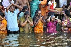 Varanasi - India (Joao Eduardo Figueiredo) Tags: old india heritage water river religious nikon asia indian faith religion temples sacred varanasi spiritual shiva hindu hinduism pilgrimage banks ganges ghats benares ghat holycity uttarpradesh nikond3x