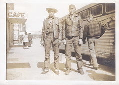 022 - Native American Men. Gallup / New Mexico (jens.lilienthal) Tags: old trip travel vacation usa greyhound newmexico bus vintage coach tour urlaub historic nativeamerican 1940s journey american gallup 1949 reise foundphotography vernacularphotography