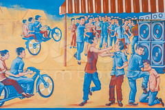 Educational billboard to stop violence at parties | Kampong Thom province, Cambodia (bokehcambodia) Tags: old party beautiful sign metal illustration warning painting asian countryside gangster fight education asia cambodge cambodia southeastasia chaos cambodian khmer khmers notice drawing painted board grunge gang rusty parties faded stop crime rusted handpainted worn violence anarchy weathered educational charming disorder fighting simple thugs campaign signboard thug bleached indochina simplistic criminality discolored kampuchea unruliness antiviolence rustcovered lawnessness