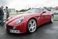 8C Competizione (xwattez) Tags: auto france car italian automobile market parking voiture transports simply alfaromeo supercar 2014 8c italienne véhicule rassemblement competizione launaguet