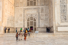 Pilgrims to the Mausoleum 7885 (Ursula in Aus) Tags: india architecture taj tajmahal marble earthasia