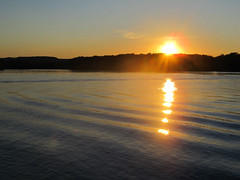 Mississippi Sunset (iheartcountry) Tags: sunset summer river mississippi iowa mississippiriver waterways