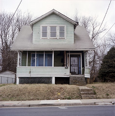 (Lesley Rivera) Tags: house color abandoned 120 film kodak baltimore portra
