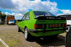 Green Ford Escort (SpookPictures) Tags: blue red white cars ford netherlands st yellow silver capri moving fiesta ultimate meeting puma jordi circuit rs xr escort midland lelystad spook radian 2014 mebu moondust xr3i ultimateedition mk65 fordrallyesport projectpuma fiestaclub pumapictures spookpictures xrrs