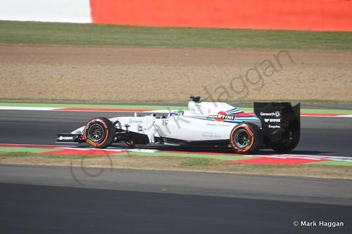 Felipe Massa in his Williams during Free Practice 1 at the 2014 British Grand Prix