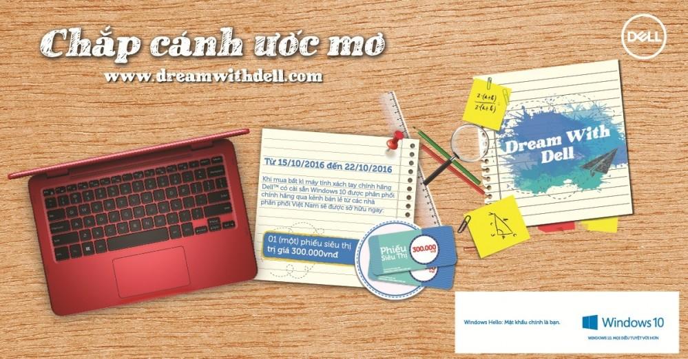 Chương trình khuyến mãi laptop Dell - Cùng Dell chắp cánh ước mơ