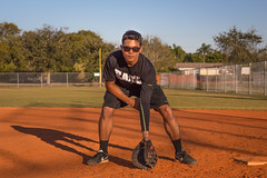 """""""Infield Stance"""" (So Fluid) Tags: park baseball ball pastime fall stance pose posture infield glove portrait portraitphotography portraiture sports sportswear shadows deference athlete gear mitt sofluid landscape canon t5i canonrebel sigma outdoor 50mm"""