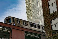 The L 2 (ingbalfaro) Tags: usa chicago street cta skyscrapper downtown metro hancock