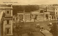 1905 London (Steenvoorde Leen - 2.5 ml views) Tags: londen london 1905 ansichtkaart postkaart postcards postkarte karte card hydeparkcorner great britain gb england