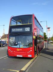 GAL E44 - LX56ETK - BLENDON - WED 14TH SEPT 2016 (Bexleybus) Tags: go ahead goahead london blendon adl dennis enviro 400 e44 lx56etk tfl route 132