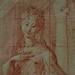 PARMIGIANINO - Madone au long Cou, Etude (Louvre RF577) - Detail -a