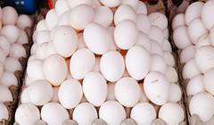 Eggs for sale at market (phuong.sg@gmail.com) Tags: abundance agriculture barn brown chicken cholesterol commerce dairy diet display egg eggs farm farmers food free fresh healthy heap ingredient many market natural nourishment nutritious organic pile poultry produce protein range raw retail row selection shop stall street tray uncooked vendor white