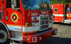 columbus fire (brown_theo) Tags: columbus ohio division fire truck squad pierce emergency training red