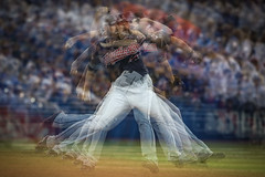 MLB: OCT 17 ALCS Game 3 - Indians at Blue Jays (Kevin Sousa Photography) Tags: s baseball pitcher multiply exposure