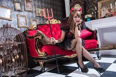 DSC_7491 (Robin Huang 35) Tags: 孫卉彤 candy miruna萬聖風 小惡魔 吸血鬼 vampire 萬聖節 halloween 棚拍 lady girl d810 nikon devil