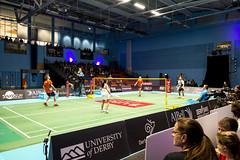 NBLmatch-5100-0268 (University of Derby) Tags: 5100 badminton nbl sportscentre universityofderby match