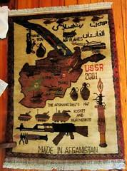 Map on Afghan war rug (futureatlas.com) Tags: afghanistan war carpet weapons warrug conflict afghan weapon map ak47 armoredvehicles afv 2001 rocketlauncher helicopter grenade madeinafghanistan
