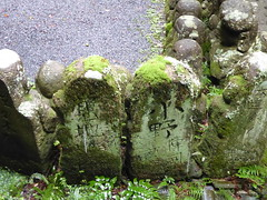 The names of the donors (seikinsou) Tags: japan autumn arashiyama rain  kyoto otagi nenbutsuji temple rakan buddhist mountain statue figure donor name