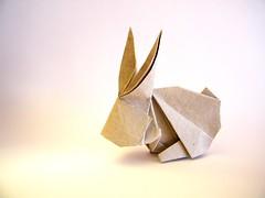 Rabbit - Kyu-seok Oh (aka Jassu) (Rui.Roda) Tags: origami papiroflexia papierfalten conejo lapin coelho rabbit kyuseok oh