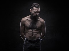 Lon (Pierre Beteille) Tags: portrait male topless tattoo tatouage inked hypster beard