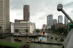 Rotterdam Cityscape (please also take a look at my favs ;-)) Tags: rotterdam netherlands boat boats bateaux bateau architecture building buildings construction water canal maas maritiem museum