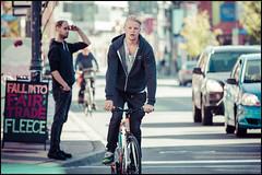 Bank Street October 19 2016 (Dan Dewan) Tags: dandewan bicycle canon7dmarkii canonef70200mm14lisusm street bike fall colour october male ottawa road wednesday portrait  eyes photographist man cyclist bankstreet face canon 2016