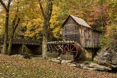 """Morning at the Mill"" (the_lowe_life) Tags: historic gladiecreek water goldenhour morning early sunrise nikkor yellow orange d7200 nikon leaves color autumn fall creek statepark babcockstatepark gristmill westvirginia"
