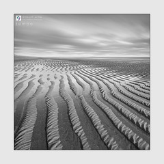 Tempo - The Sketches # 23 (Stuart Leche) Tags: blackwhite calm chapelstleonards clouds longexposure monochrome ripples sand sea seascape serene sky