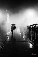 Bajo la Lluvia (*Alphotos) Tags: alphotos alfonso bn bw lluvia paraguas niebla sevilla andaluca