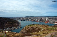 St-John's harbour from Signal Hill (le Brooklands) Tags: d7000 newfoundlandlabrador sigma2470mm signalhill stjohns stjohnsharbour